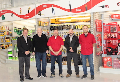 Lumen's Moncton Branch Manager Glenn Leaman with team members