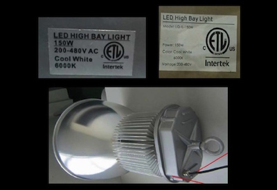 Intertek, unauthorized certification mark, Shanghai Leiqiong Lighting Technology Co. Ltd.