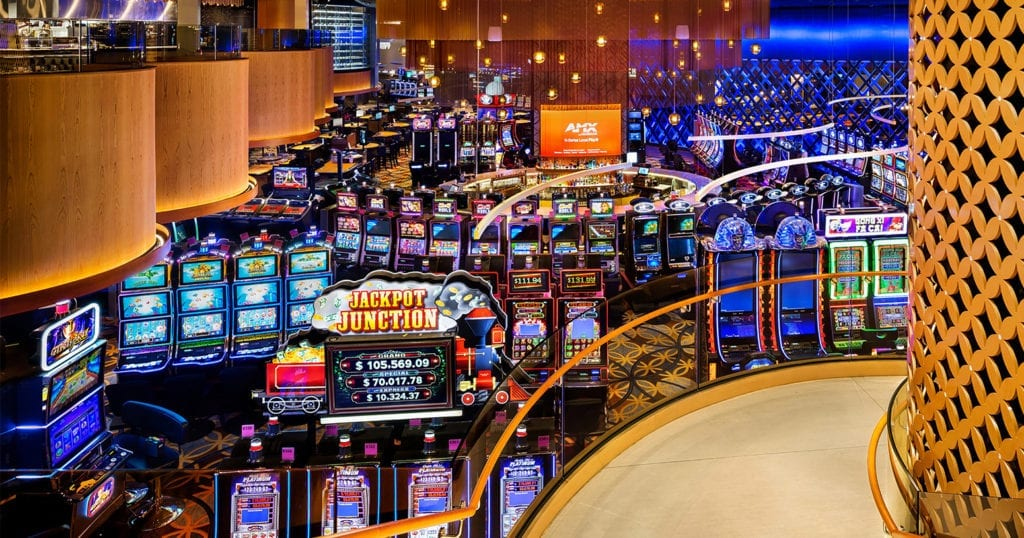 Edmonton Grand Villa Casino by Kasian Ombrages Photo 2 by Kasian Lightnet Liquid Line Suspension Light LightForm Blog 1024x538