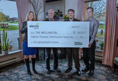 Cheque presentation for lighting energy savings