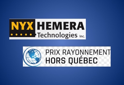 Nyx Hemera Technologies Nominated for the Prix Rayonnement Hors Québec